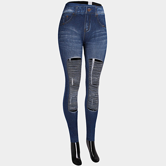 Sexy Destroyed Denim Jeggings