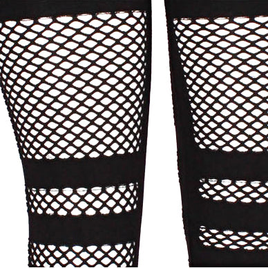 Comfy Fishnet Insert Leggings - Black