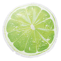 Lime Terry Cloth Round Beach Towel