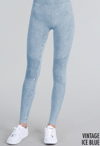 Vintage Leggings - Ice Blue
