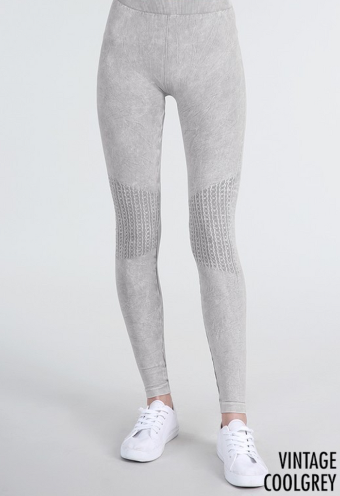Vintage Leggings - Cool Grey