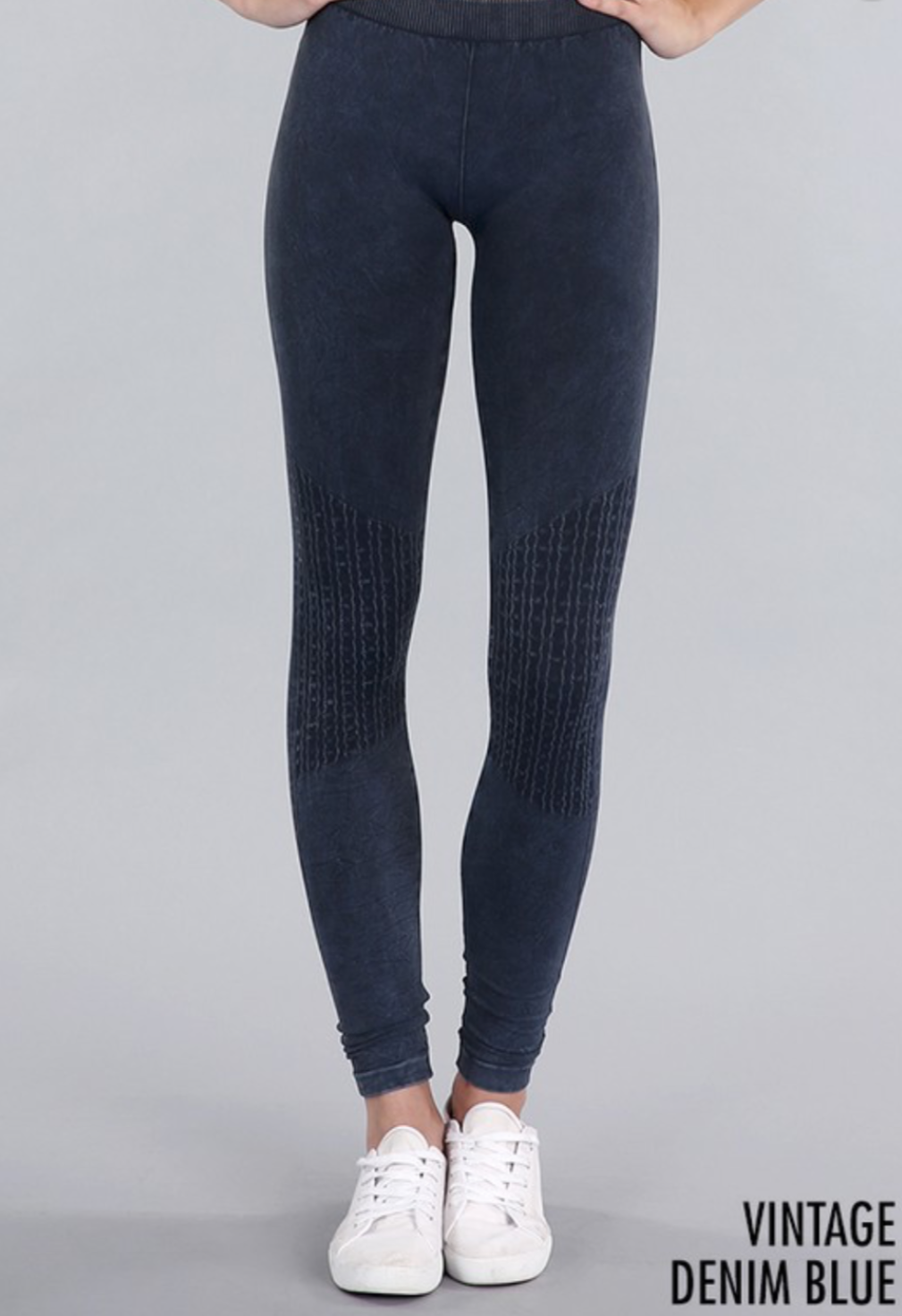 Vintage Leggings - Denim Blue