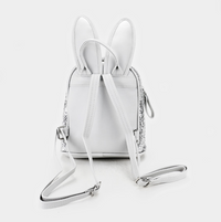 Sequin Bunny Ears Mini Backpack - Silver