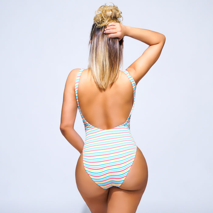 Kylie One-Piece Swimsuit - Stripes