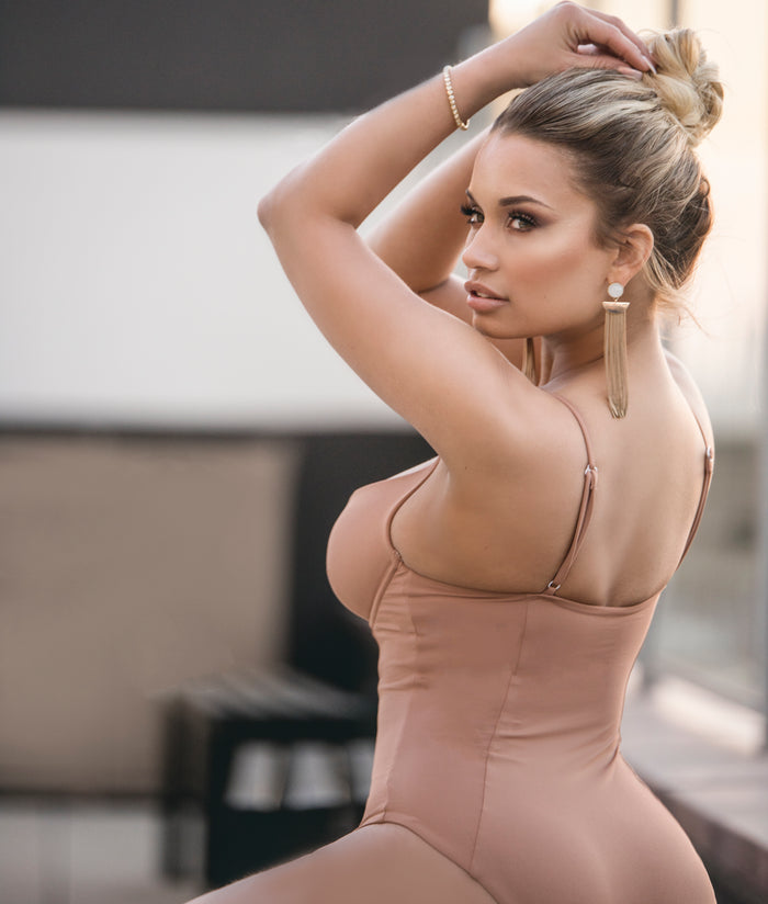 Isabella One-Piece Swimsuit - Nude