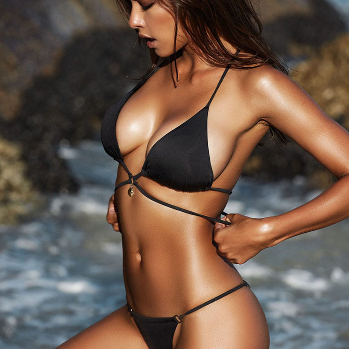 Sexy Savannah Push-Up Bikini Set - Black