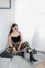 Checkered Straight Legged Trousers
