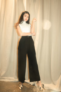 Rylie Wide Leg Trousers in Black