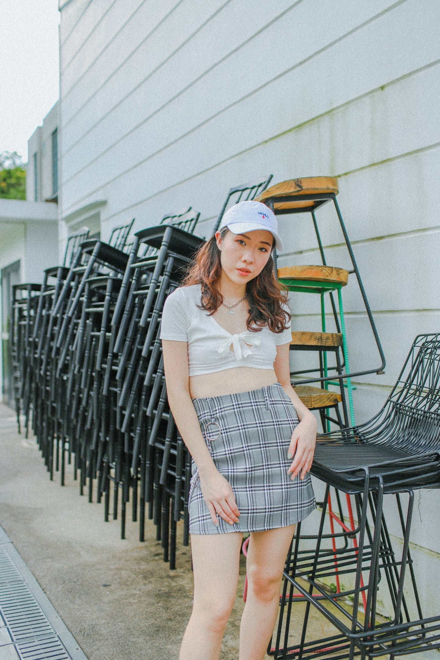 Hyld Plaid Skirt