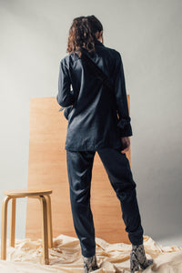 Arvy Silk Suit Trousers
