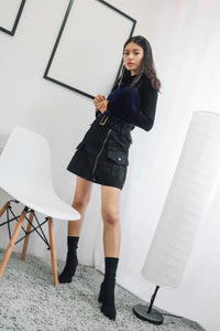 A-line Utility Skirt in Black
