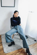 Denim Palazzo Cropped Jeans