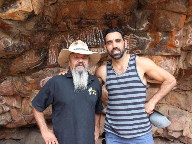 adam-goodes-cliff-coulthard-malkawi-cave-flinders-ranges-south-australia