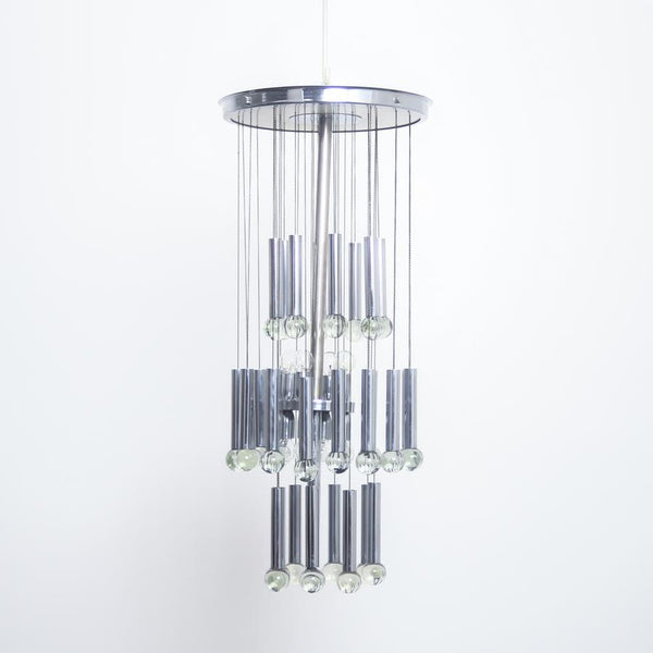 Gaetano Sciolari - Chrome Chandelier