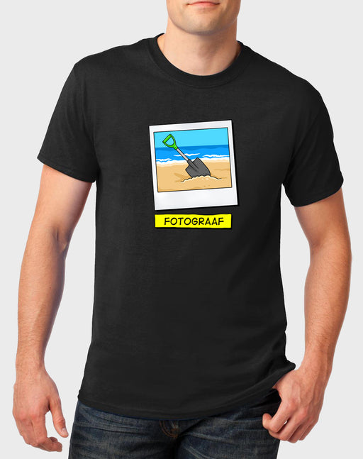 Idees Vol Vrees Fotograaf Men's T-shirt - komedie