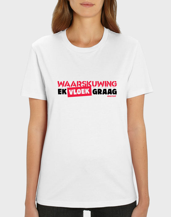 Askiestog? Waarskuwing! Women's V-neck T-shirt