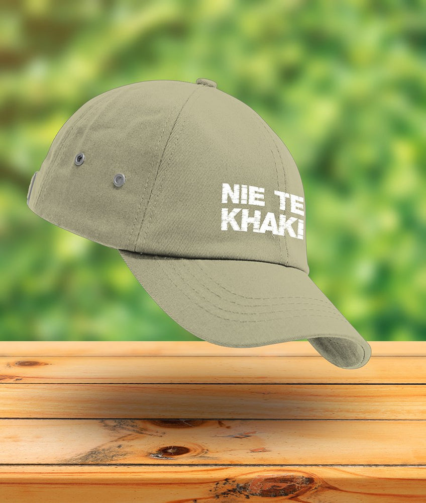 Idees Vol Vrees Nie Te Khaki Curved Cap