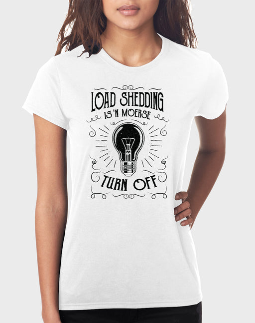 Idees Vol Vrees Load Shedding Women's T-shirt