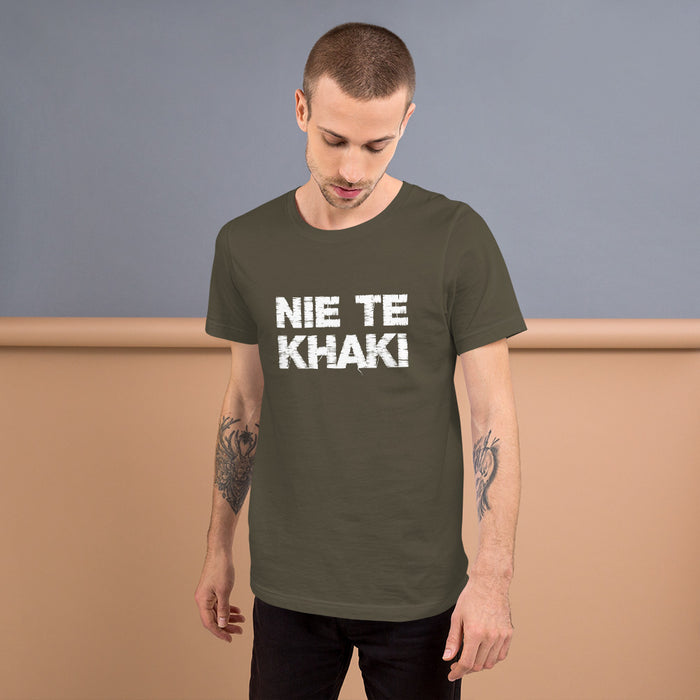 [INTERNASIONAAL] Idees Vol Vrees Nie Te Khaki Men's T-shirt