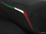 LUIMOTO TEAM ITALIA SUEDE SEAT COVERS FOR DUCATI HYPERMOTARD 07-12 - FITS OEM SEAT ONLY