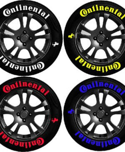 8x Continental 1mm anti-rip rubber Bike Tyres Lettering (Full Kit)
