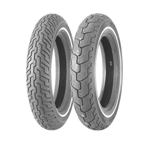 DUNLOP OE STYLE D-402 TOURING TIRES - WHITE STRIPE