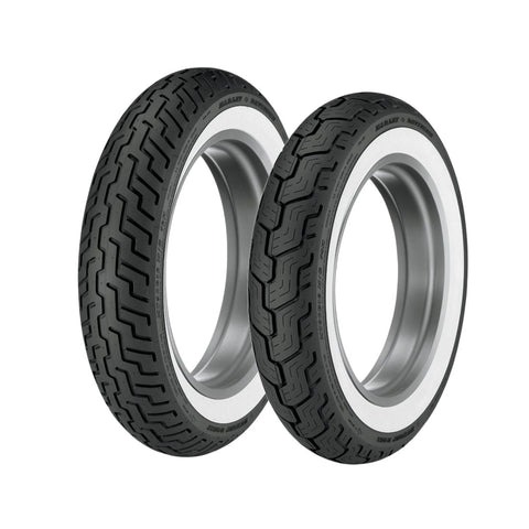 DUNLOP OE STYLE D-402 TOURING TIRES - WHITE WALL