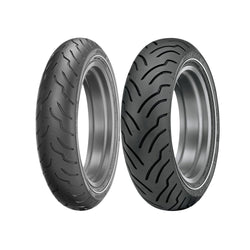 DUNLOP AMERICAN ELITE CRUISER TIRES - NARROW WHITE STRIPE