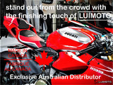 LUIMOTO TEAM ITALIA RIDER SEAT COVERS FOR DUCATI PANIGALE 1199 11-15 - FITS STANDARD SEAT