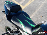 LUIMOTO MONSTER EDITION PASSANGER SEAT COVERS FOR KAWASAKI ZX-10R 08-10