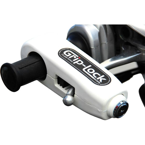 GRIP-LOCK WHITE HANDLEBAR GRIP LOCK