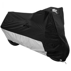 Nelson Rigg Deluxe Black/Silver Motorcycle Cover