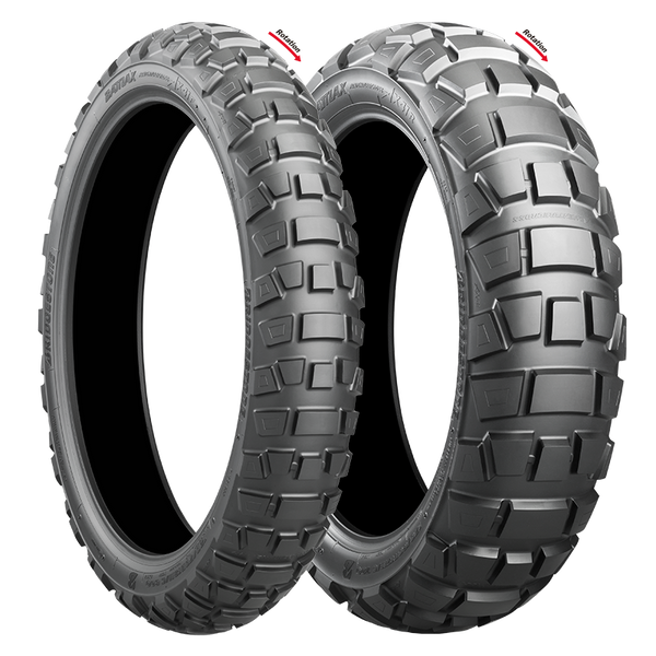 BRIDGESTONE AX41 ADVENTURECROSS COMBO DEAL 90/90-21 + 130/80B17