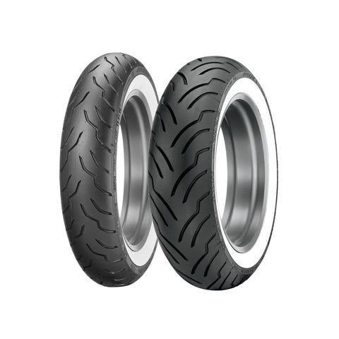 DUNLOP AMERICAN ELITE CRUISER TIRES - WHITEWALL