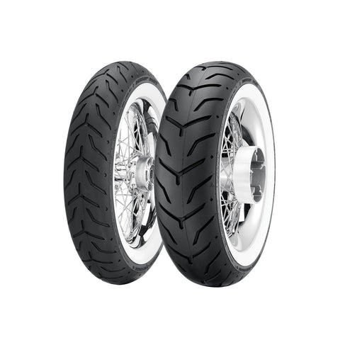 DUNLOP OE STYLE D408/407 MULTI-TREAD BIAS CRUISER TIRES - WHITE WALL