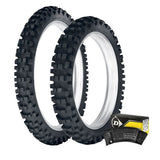 DUNLOP - 952 ENDURO FRONT & REAR TYRE & TUBE KIT - 110/90-18