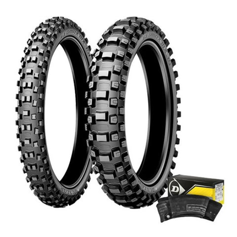 DUNLOP - MX 3S FRONT & REAR TYRE AND TUBE KIT - 110/90-19