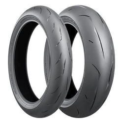BRIDGESTONE BATTLAX RS10 H-RANGE PAIR DEAL with FREE BRS-1 RIDING SHOES