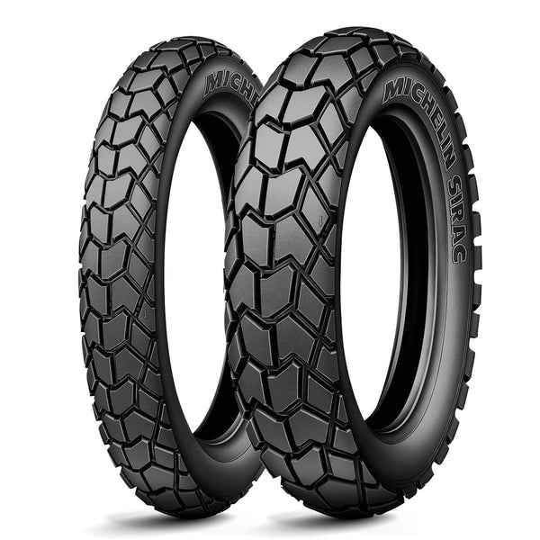 MICHELIN SIRAC DUAL SPORT 110/80-18 REAR 90/90-21 FRONT TYRE SET