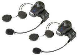 SENA SMH10 DUAL WITH BOOM MIC MOTORCYCLE BLUETOOTH HEADSET & INTERCOM