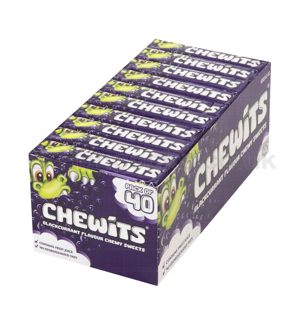 Blackcurrant Chewits Full Box 40 Packets