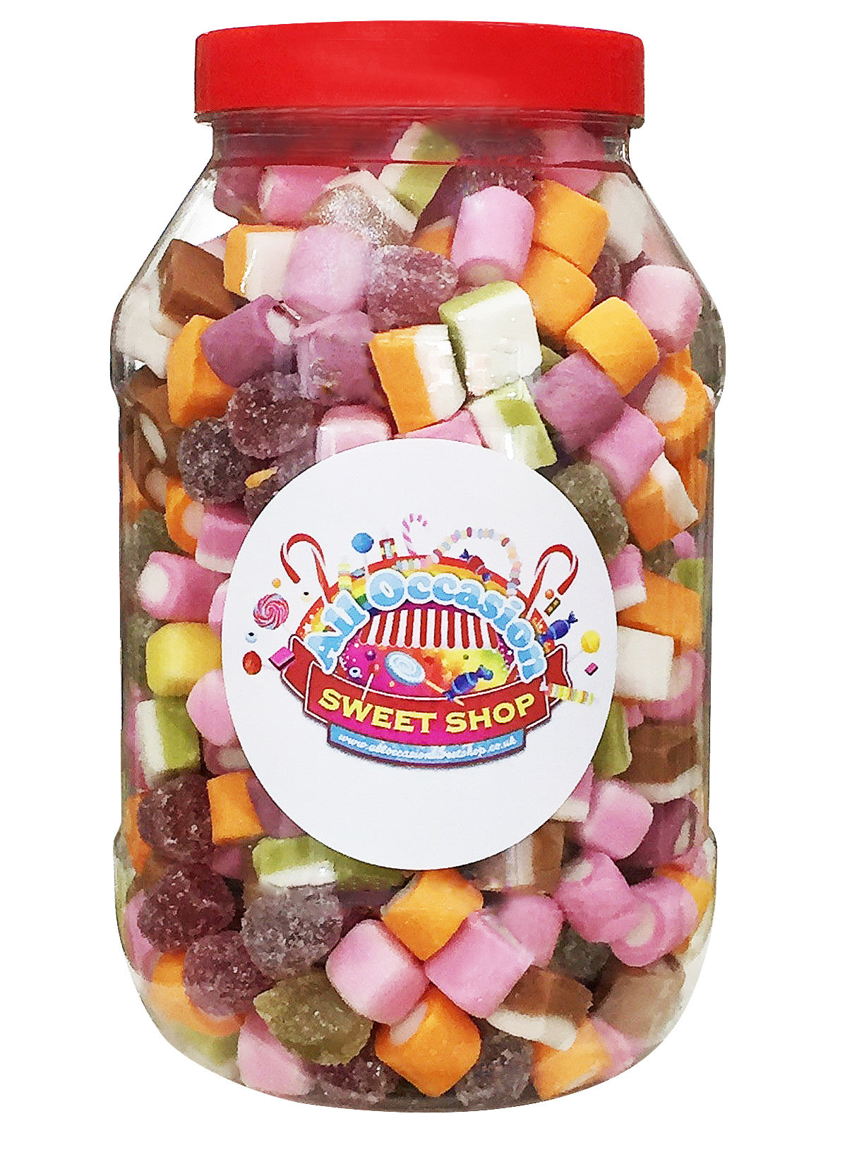 dolly mixture retro sweets jar 1 litre all occasion. Black Bedroom Furniture Sets. Home Design Ideas