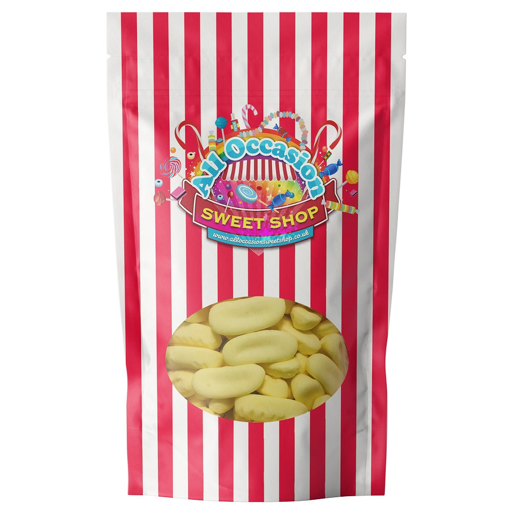 Mini Foam Bananas Retro Sweets Gift Bag 450g