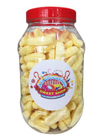 Foam Bananas Retro Sweets Jar (1 Litre)