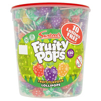 Fruity Pops Lollies Full Tub 130 Lollipops