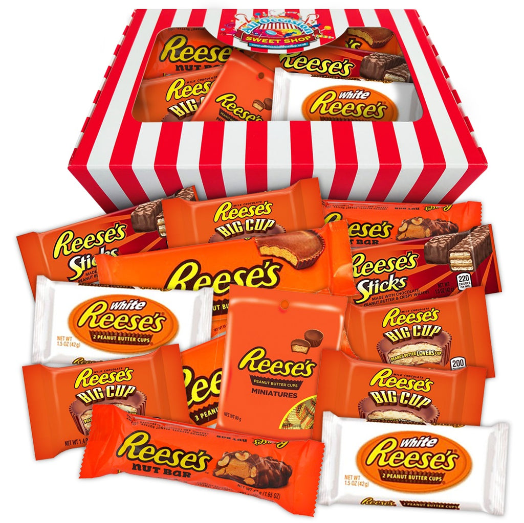 Reese's American Chocolate Hamper | USA Candy Striped Gift Box