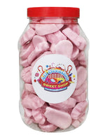 Foam Shrimps Retro Sweets Jar (1 Litre)
