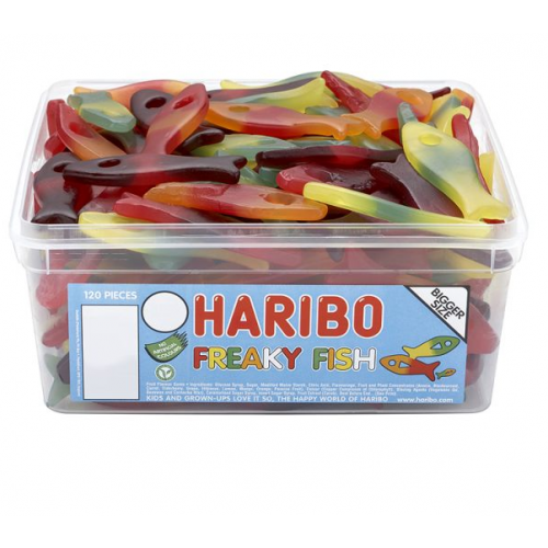 Haribo Freaky Fish Sweets Tub
