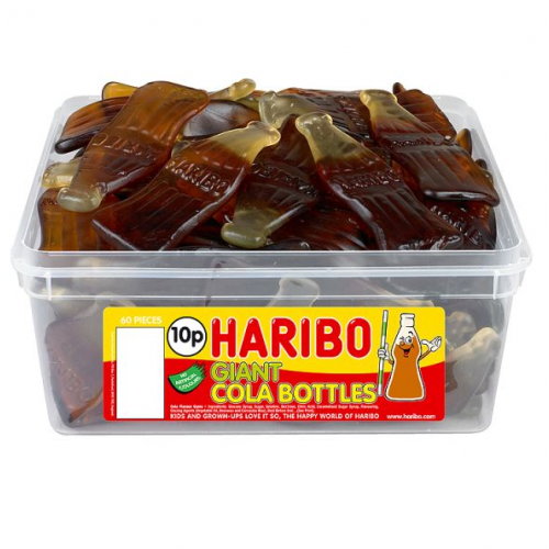 Haribo Giant Cola Bottles Sweets Tub