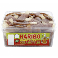 Haribo Giant Fizzy Cola Bottles Sweets Tub